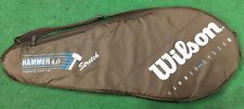 WILSON HAMMER 4.0 STRETCH VINTAGE ZIPPERED FULL SIZE RACKET COVER BAG CASE BROWN