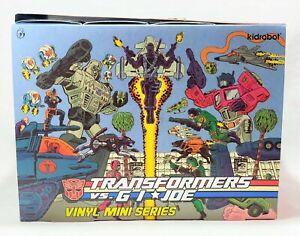 Kid Robot Transformers vs. G.I. Joe Mini-Figure Series Display Box of 24 MISB