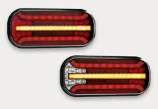 2x LED BAJONET Rückleuchten Anhänger dynamische blinker Kennzeichenbeleuchtung