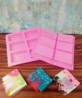 Ozera 6 Cavity Rectangle Silicone Soap, Cake, Chocolate Molds -Buy More & Save!