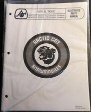 1975 Arctic Cat Snowmobile El Tigre Parts Manual Copy P/N 0153-037