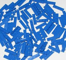 Lego Lot of 100 New Blue Plates 1 x 4 Dot Building Blocks Parts Pieces