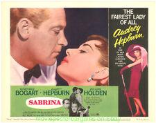 SABRINA LOBBY CARD SET 11x14 R1965 Movie Poster  AUDREY HEPBURN HUMPHREY BOGART