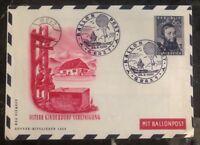 1950 Graz Austria Ballon Flight Air Letter First Day Cover FDC Unaddressed
