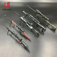 1/6 4D AWM SVD TAC MK14 Sniper Rifle Gun Model Assemble Weapon For Action Figure