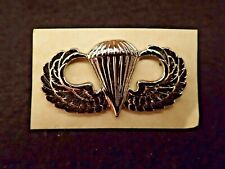 United States Army Parachutists Badge Clutch Back Vintage Dress Silver Finished