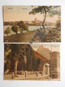 AK Lychen, um 1910, Ldkr. Uckermark, Flößerstadt, Wurl-See, 2 St.  #AT144
