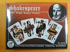 BOXED SHAKESPEARE VINTAGE PIATNIK PLAYING CARDS TWO SEALED DECKS