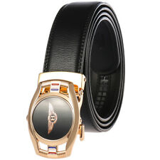Luxury Men's Cow Leather Belt Bentley Automatic Buckle Belt Ratchet Strap Gift
