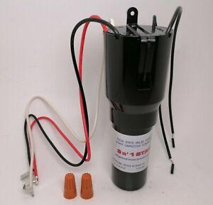 RCO410 3 in 1 Start Relay Refrigerator Compressor Hard Start Capacitor Universal