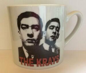 THE KRAYS ceramic mug RONNIE AND REGGIE KRAY twins GANGLAND CRIME London Boxing