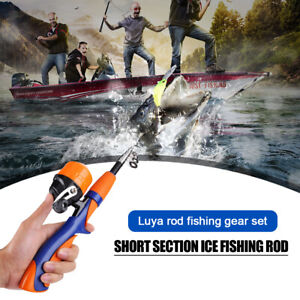 1.2m/ 1.4m Ice Fishing Rod Closed Face Spinning Fishing Reel Combo Tackle Set