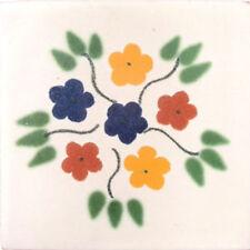 C#005) MEXICAN TILES CERAMIC HAND MADE SPANISH INFLUENCE TALAVERA MOSAIC ART
