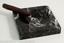 "MENS GIFTS - ""MONTERREY"" SQUARE BLACK MARBLE ASHTRAY - ASH TRAY"