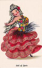 Counted Cross Stitch Pattern Chart Graph - International Doll Spanish Dancer