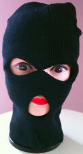 BLACK 3 HOLES WARM KNIT WINTER SKI ROBBER BEANIE HATS PARTY COSTUME ROBBER MASK