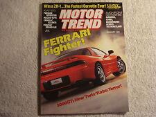 Motor Trend 1990 January Porsche 911 Cadillac Allante Pontiac Lincoln Geo GSI
