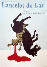 """""""LANCELOT DU LAC"""" Affiche originale entoilée Litho SAVIGNAC 1974  Robert BRESSON"""