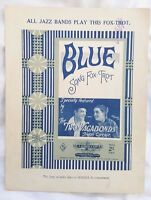 'Blue' Jazz Band Fox Trot & Song c1922,Tivoli Australian.Lou Handman,SHeet Music