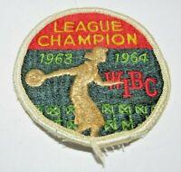 Vintage 1962-1963 WIBC LEAGUE CHAMPION Women's League Champs Patch