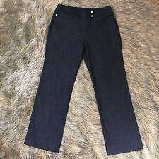 Larry Levine Sz 10 P Black Dark Wash Straight Leg Denim Jeans Slacks Pants