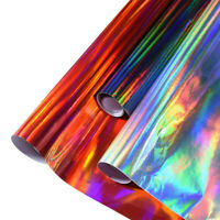 Holographic Rainbow Neo Chrome Car Vinyl Wrap Sticker Decal Film Air Bubble Free
