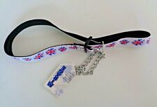 Martingale Dog Collar with Choker Chain (Large - New with Tag - Red White Blue)