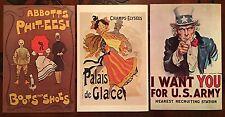 Collection - 23 Sandy Val Graphics Postcards, 1966-1969, Art Nouveau, Uncle Sam