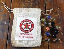Texaco Oil & Gasoline Company Advertising Bag of Marbles Free When You Fill Up