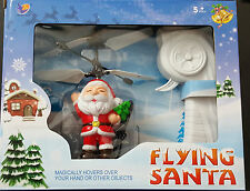 Remote Control RC Flying Santa Helicopter Hand Sensor  Kids Toy Xmas Christmas