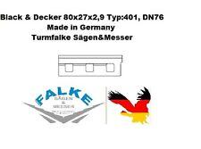 2 Stück Hobelmesser Black & Decker 80x27x2,9 Typ:401, DN76