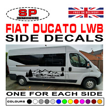Fiat Ducato LWB Van Motorhome Adventure Mountains Vinyl Decals Graphics 02