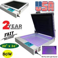 Us 110v 20 X 24 Vacuum Led Uv Exposure Unit 80w Precise Screen Printing
