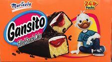 Marinela Gansito Filled Snack Cake 24 Packs Auténtico Sabor Fresa y Crema
