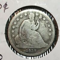 1839-O  No Drapery    Liberty Seated Dime