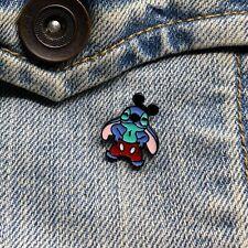 Tiny Stitch as Mickey Mouse Lilo & Stitch Enamel Pin Stocking Stuffer