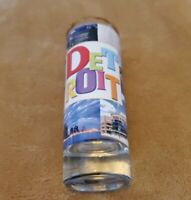 NEW tall shot glass from Detroit Michigan colorful wrap travel souvenir