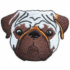 Pug Chinese Dog Animal Dutch Bulldog Cartoon Kids Children Iron-On Patches #A059