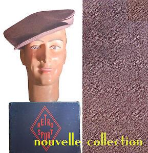 CASQUETTE RETRO SPORT BERET ROCK'N'ROLL JIVE VINTAGE CAP 1940-1950's TWEED PRUNE