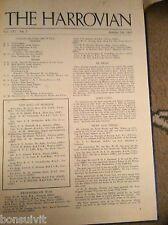 L1-5 original harrow school magazine the harrovian october 4th 1944