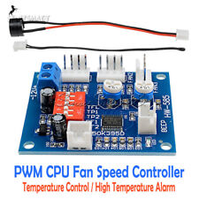 12V PWM PC CPU Fan Temperature Control High-Temp Alarm Speed Controller Module
