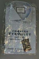 Charles Tyrwhitt Super Slim Fit Non-Iron 4-Way Stretch Shirt BP4 Sky Check 15/33