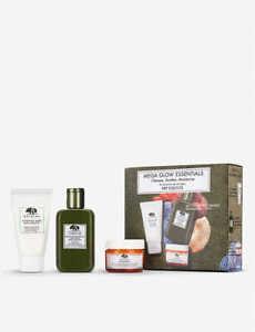 Origins Cleanse, Shroom, Moisturise Set: Mega Glow Oily/ Normal Skin RPP £30