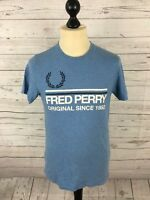 FRED PERRY T-Shirt - Small - Blue - Great Condition