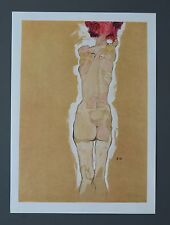 Egon Schiele Lichtdruck Lithograph Signed Rückenakt 1910 Nude girl from behind