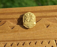 "4-H Four Leaf Clover Logo 7/8"" Gold Tone Metal Lapel Pin Pinback Award"