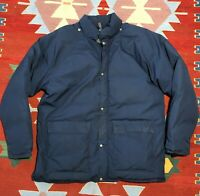 Vintage 70s Trailwise Goose Down Parka Jacket Coat XL Blue Berkeley Made in USA