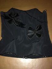 Simon Ellis Basque Top Size 12 Black Velour & Sparkly Beaded Decoration <R7967