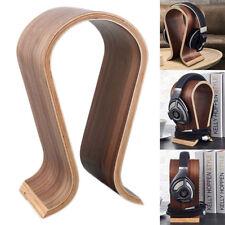 Wood Headphone Stand Holder Game DJ Headset Display Rack Earphone Hanger Bracket