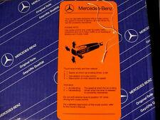 Original Mercedes Hinweisschild Tempomat W108, W115, W123, W124, W126, W201